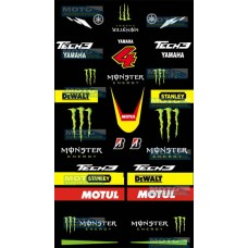 Kit Adhesivos Monster Yamaha Tech